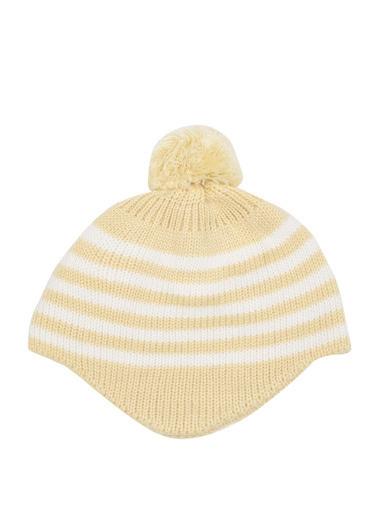 DeFacto Kız Bebek Ponponlu Çizgili Bere Sarı
